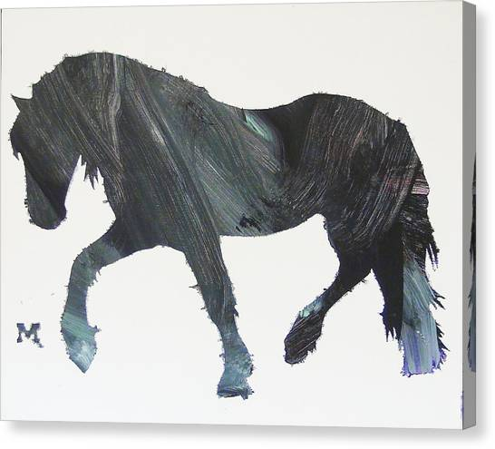 Canvas Print featuring the painting Colton by Candace Shrope
