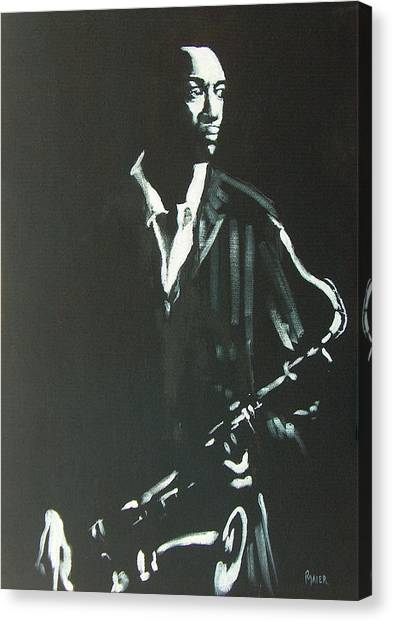 Coltrane Canvas Print by Pete Maier