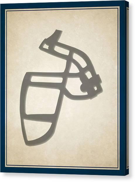 Indianapolis Colts Canvas Print - Colts Face Mask by Joe Hamilton