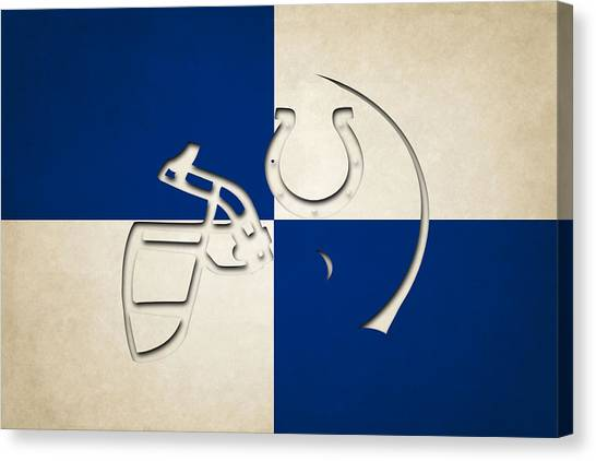 Indianapolis Colts Canvas Print - Colts Helmet Art by Joe Hamilton