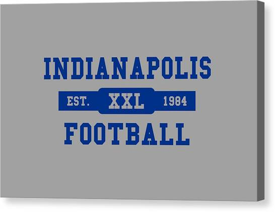 Indianapolis Colts Canvas Print - Colts Retro Shirt by Joe Hamilton