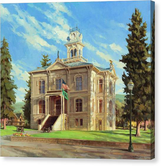 Law Canvas Print - Columbia County Courthouse by Steve Henderson
