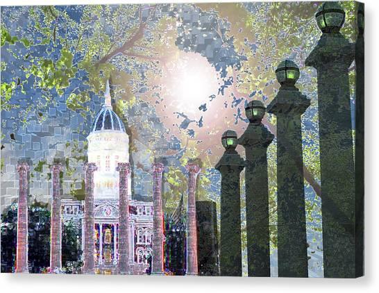 University Of Missouri Canvas Print - Columbia by Diane Epstein