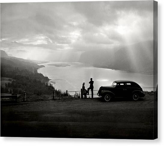 Columbia Gorge Canvas Print by Ray Atkinsen