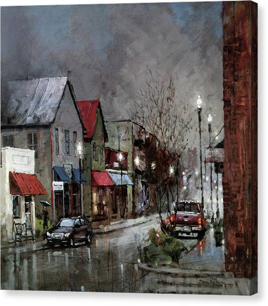 Columbia Rain Canvas Print