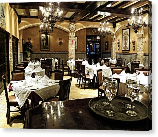 Columbia Restaurant Fine Dining Canvas Print