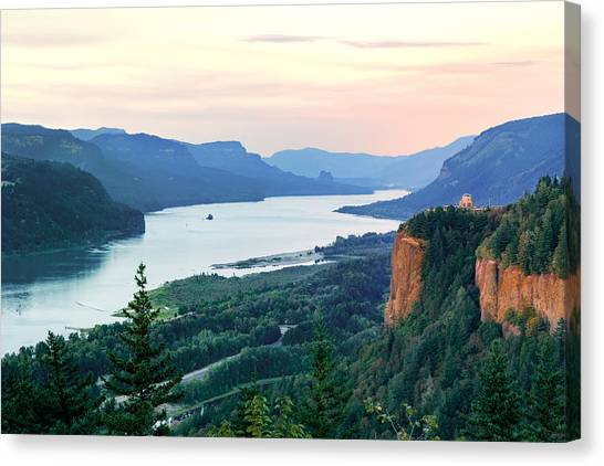 Columbia River With Vista House Canvas Print