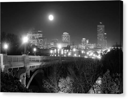 Columbia Skyline At Night Canvas Print