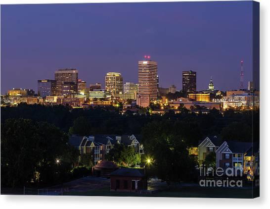 Columbia Skyline At Twilight Canvas Print