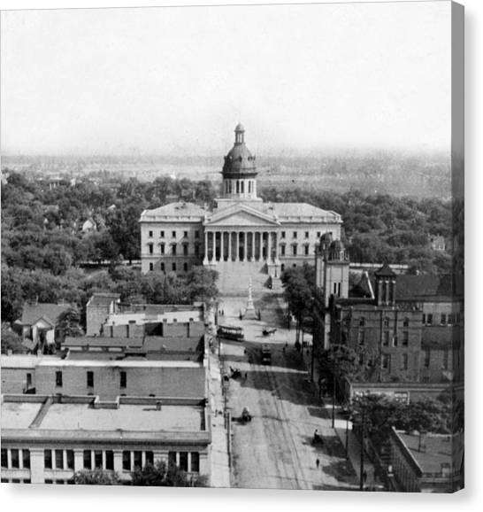Columbia South Carolina - State Capitol Building - C 1905 Canvas Print