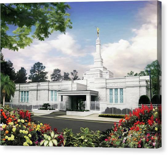 Columbia South Carolina Temple Canvas Print by Brent Borup