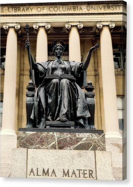 Columbia University Canvas Print - Columbia University Library - Alma Mater by Mountain Dreams