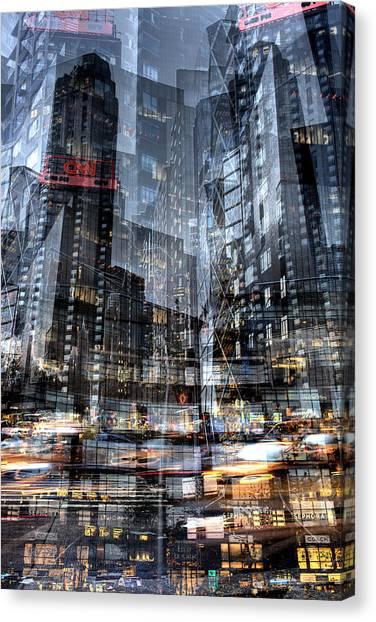 Columbus Circle Collage 1 Canvas Print