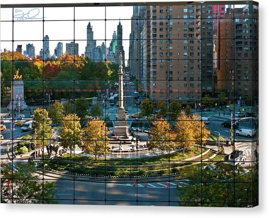 Warner Park Canvas Print - Columbus Circle by S Paul Sahm
