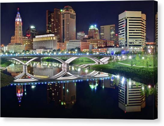 Ohio University Canvas Print - Columbus Colors by Frozen in Time Fine Art Photography