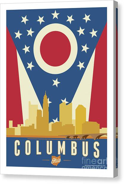 Ohio Valley Canvas Print - Columbus - Ohio Burgee by Buckland Gillespie