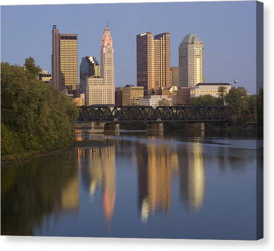 Columbus Ohio Evening Canvas Print
