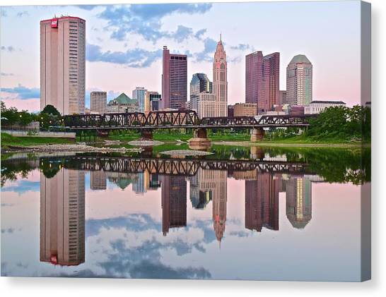 Ohio State University Canvas Print - Columbus Ohio Reflects by Frozen in Time Fine Art Photography