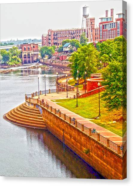 Georgia State University Canvas Print - Columbus Riverwalk by Bobby Jones