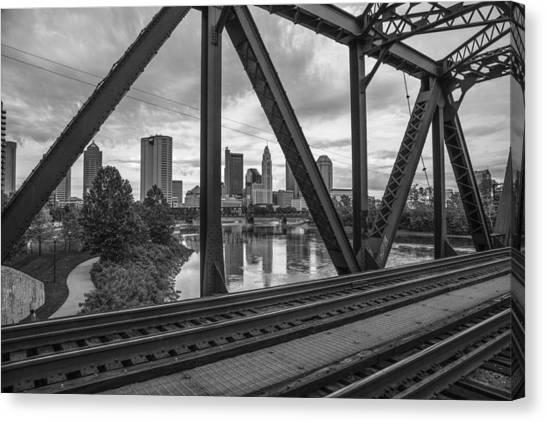 Columbus Train Tracks  Canvas Print