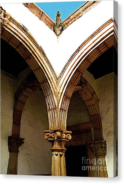 Column And Arch Canvas Print by Mexicolors Art Photography