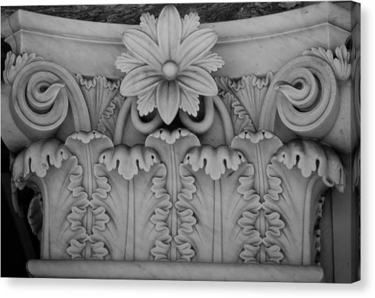 J Paul Getty Canvas Print - Column Capital Detail 2 by Teresa Mucha