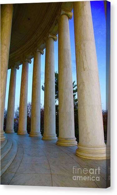 Canvas Print - Columns At Jefferson by Megan Cohen