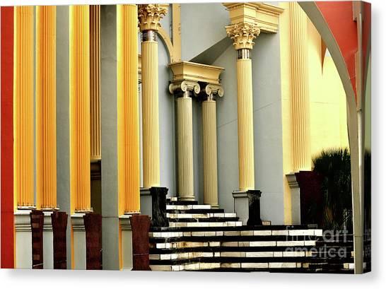 Columns At Plaza De Italia Canvas Print
