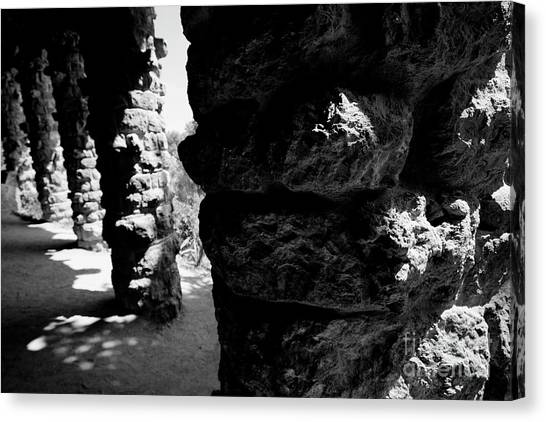 Columns Of The Park Guell Canvas Print