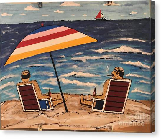 Canvas Print - Comb Over Brothers by Jeffrey Koss
