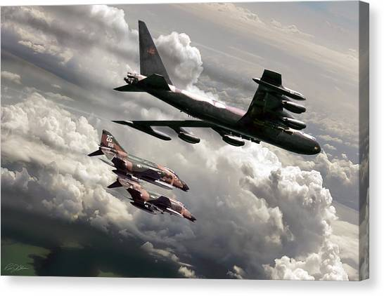 Linebackers Canvas Print - Combat Air Patrol by Peter Chilelli
