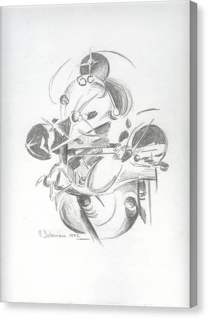 Combat Canvas Print by Muriel Dolemieux