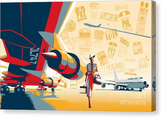 Destinations Canvas Print - Come Fly With Me by Sassan Filsoof