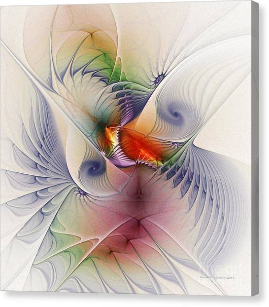 Lyrical Abstraction Canvas Print - Come Into My Secret Garden by Karin Kuhlmann