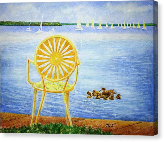 Come, Sit Here Canvas Print