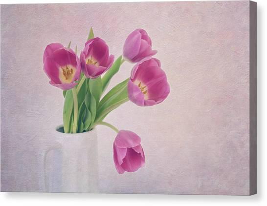 Charming Cottage Canvas Print - Come Spring by Kim Hojnacki
