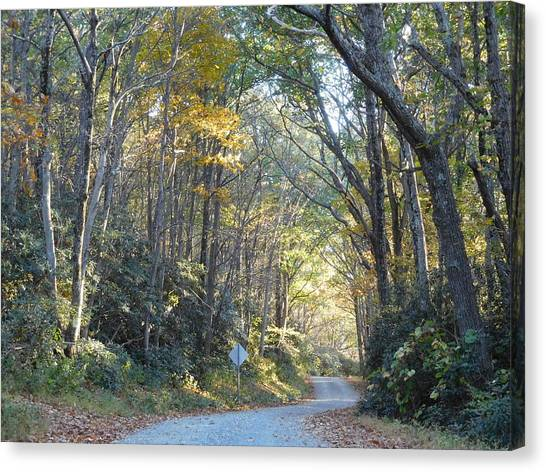 Come Walk Into Autumn With Me Canvas Print