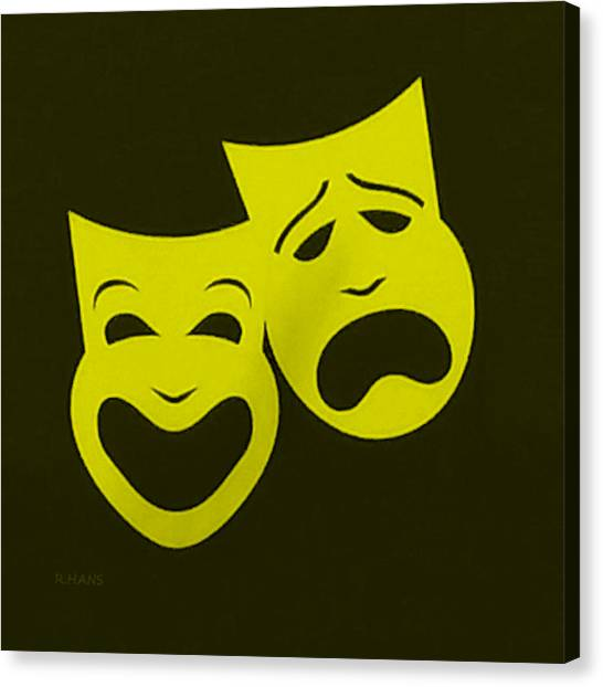 Comedy And Tragedy Masks Canvas Prints (Page #2 of 2) | Fine Art America