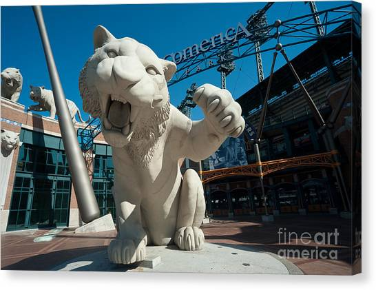 Comerica Park Entrance Canvas Print