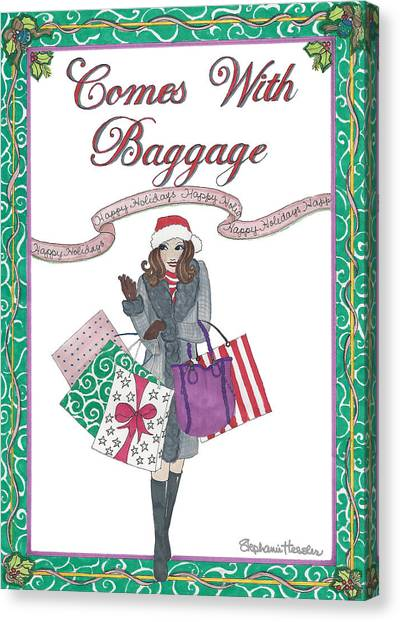 Comes With Baggage - Holiday Canvas Print