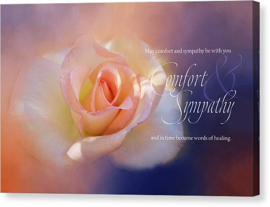 Sympathy Canvas Print - Comfort And Sympathy by Terry Davis