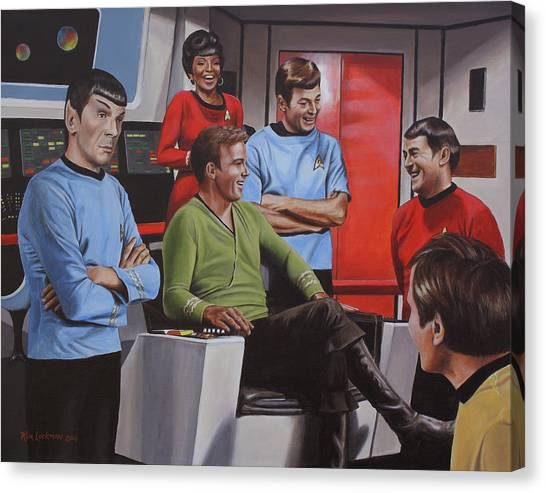 Uhura Canvas Print - Comic Relief by Kim Lockman