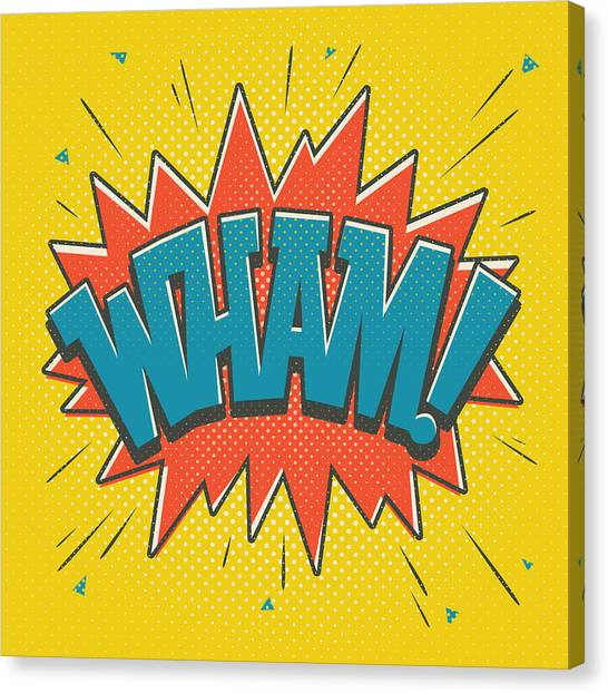 Spiders Canvas Print - Comic Wham by Mitch Frey