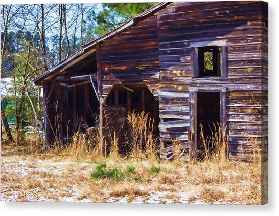 Coming Apart With Character Barn Canvas Print