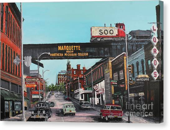 Marquette University Canvas Print - Coming Home by Tim Lindquist