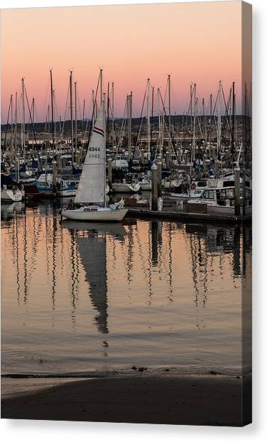 Coming Into The Harbor Canvas Print