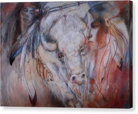 Coming Of The White Buffalocalf Canvas Print