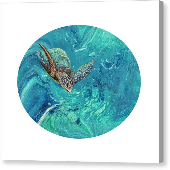 Canvas Print featuring the painting Coming Out Of The Depths by Darice Machel McGuire