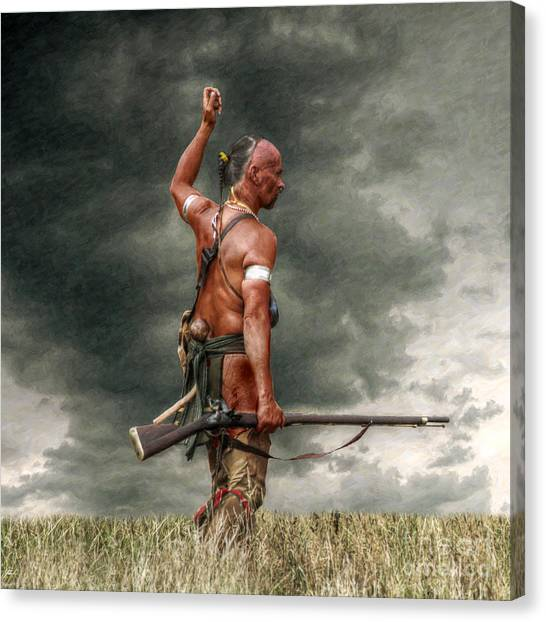 Scouting Canvas Print - Coming Storm by Randy Steele
