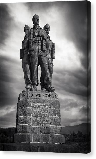 Royal Marines Canvas Print - Commando Memorial by Out Venture